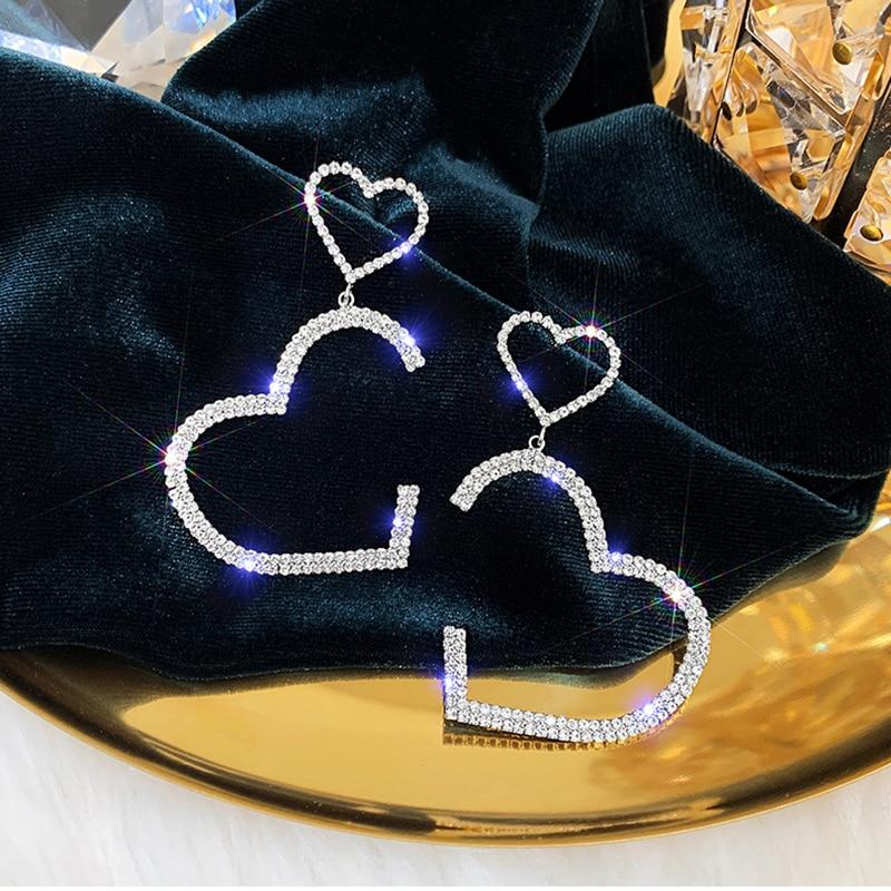 RscvonM Korean 1 Pair Women's Gold Silver Color Colour Super Long Chain Drop Earrings Dangle Tassel Earrings For Party Jewelry