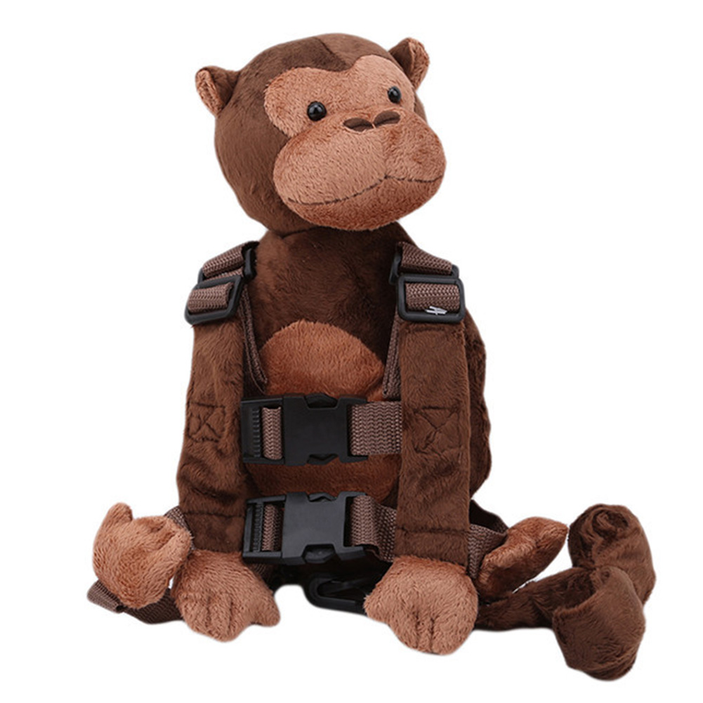Plush Backpack Monkey Toddler Child Adjustable Kid Keeper Walking Toy Anti-lost Baby 2 In 1 Animal Safety Harness Leash