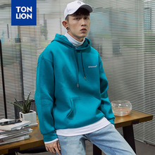 TONLION 2020 Spring New Hoodies Mens 3 Color Available Simple Solid Long Sleeve Hoodie Men's Normcore Teens
