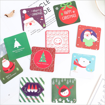 5Pcs/lot Cute Christmas series Greeting Card Postcard Birthday Gift Card Set Message Card недорого