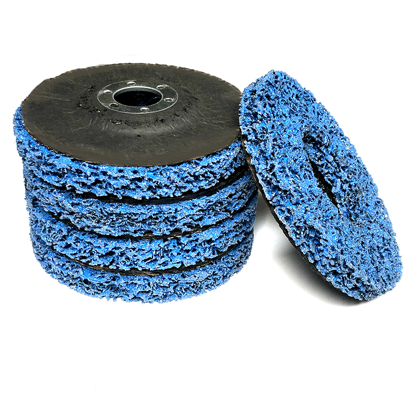 5pcs Blue 115mm Poly Strip Wheels Paint Rust Removal Clean Angle Grinder Discs For Angle Grinder