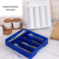 Kitchen Drawer Organizer Tray Spoon Forks Cutlery Separation Finishing home Rack Storage Box Portable Cutlery Storage Organizer
