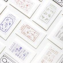 Sponge-Stamps Stationery Craft-Supplies Planet JIANWU for DIY Memo-Card-Making Angel-Geometry