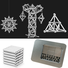 Magic Magnets Cube metal Building Blocks Construction toys for Children Educational Bucky Magnetic Sticks Steel Balls Puzzle Toy