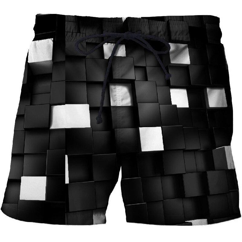 New Fashion Men Beach Shorts Quick Drying Surf Shorts Basket Homme Casual Bermuda Male Shorts Board Short 3d Print Funny Shorts