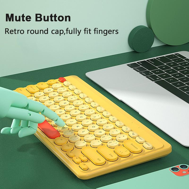 2.4G Wireless Keyboard USB 79 Keycaps Mute Gaming Keyboard Wireless For PC Gamer Office Work Computer Laptop Mac Mini Keyboards-1