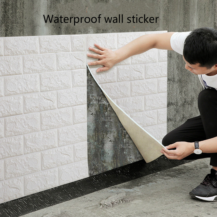 3D Stereo Wall Paste TV Background Brick Pattern Wall Paste Waterproof And Anti-collision Self-adhesive Wall Paste Wallpaper