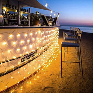 Image 4 - 3m*2m LED Net Lights Outdoor Mesh Christmas String Light Waterproof Landscape Wedding Holiday Xmas fairy Lamp Decoration EU 220V