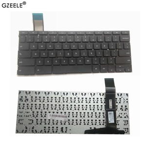 GZEELE NEW Black US Layout Laptop Keyboard For Asus Chromebook C201 C201P C201PA C202 C202S C202SA Without Frame(China)