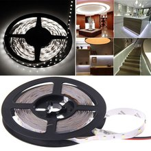 Multi-use Light Strip Cuttable Decoration Light 5M 16ft 3528 SMD RGB 300 LEDs Light LED Sticky Strip DC 12V Lamp Not Waterproof 18w 1200lm 635 700nm 300 smd 3528 led red light car flexible decoration strip dc 12v 500cm