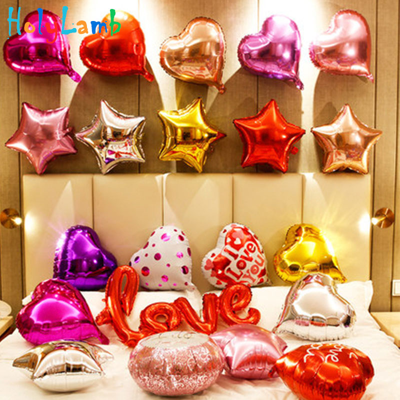 10Pcs/Lot  18 Inch Pentagram Shape Foil Balloons Birthday Balloons Children Happy Birthday Kids Party Wedding Decorations
