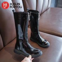 Children Snow Boots For Girls Suede Warm Plush Boots Kids Waterproof Casual Shoes Fashion High Quality Martin Boots