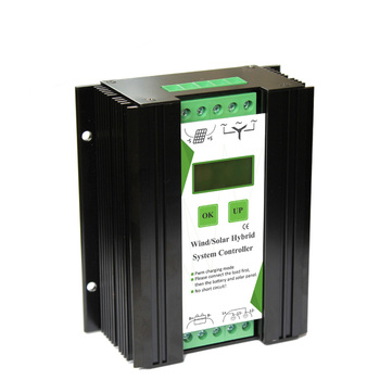 12V 24V 600W LCD Screen Equipment Accessories Wind Solar Home Hybrid Controller Electrical Automatic Charge Aluminum Alloy Power 3