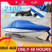 X AUTOHAUX 540/570/700x280/300 سنتيمتر 210D تريل erable غطاء قارب مقاوم للماء الصيد تزلج باس قارب سريع V شكل الأزرق غطاء قارب