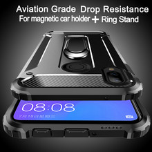 Aviation shockproof Ring Stand Phone Case For Huawei Y9 Y7 Y6 Y5 Prime Pro 2019 2018 P Smart 2019 Nova 4 3i Phone Case Cover(China)