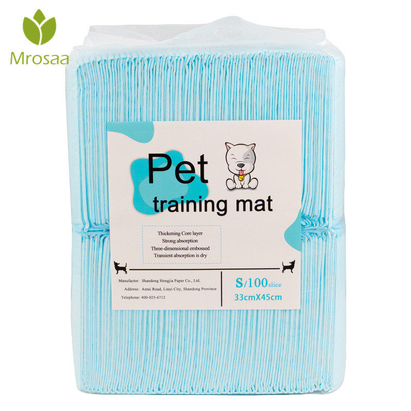 Mrosaa Super Absorbent Pet Diaper Dog Training Pee Pads Disposable Healthy Nappy Mat For Dog Cats 4 Sizes