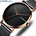 CRRJU ультра-тонкие мужские часы Топ бренд Роскошные модные повседневные спортивные часы мужские водонепроницаемые кварцевые наручные часы ...
