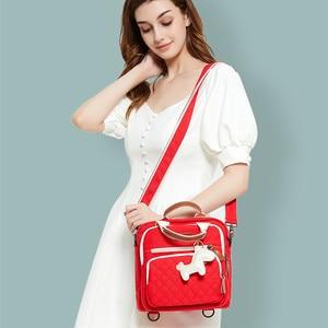 Image 4 - สูงระดับผ้าใบที่มีสีสันMommyกระเป๋าผ้าอ้อมกระเป๋าผ้าอ้อมเด็กMaternity Mommyกระเป๋าเป้สะพายหลัง/กระเป๋าถือ/Messengerสาม in Oneกระเป๋า