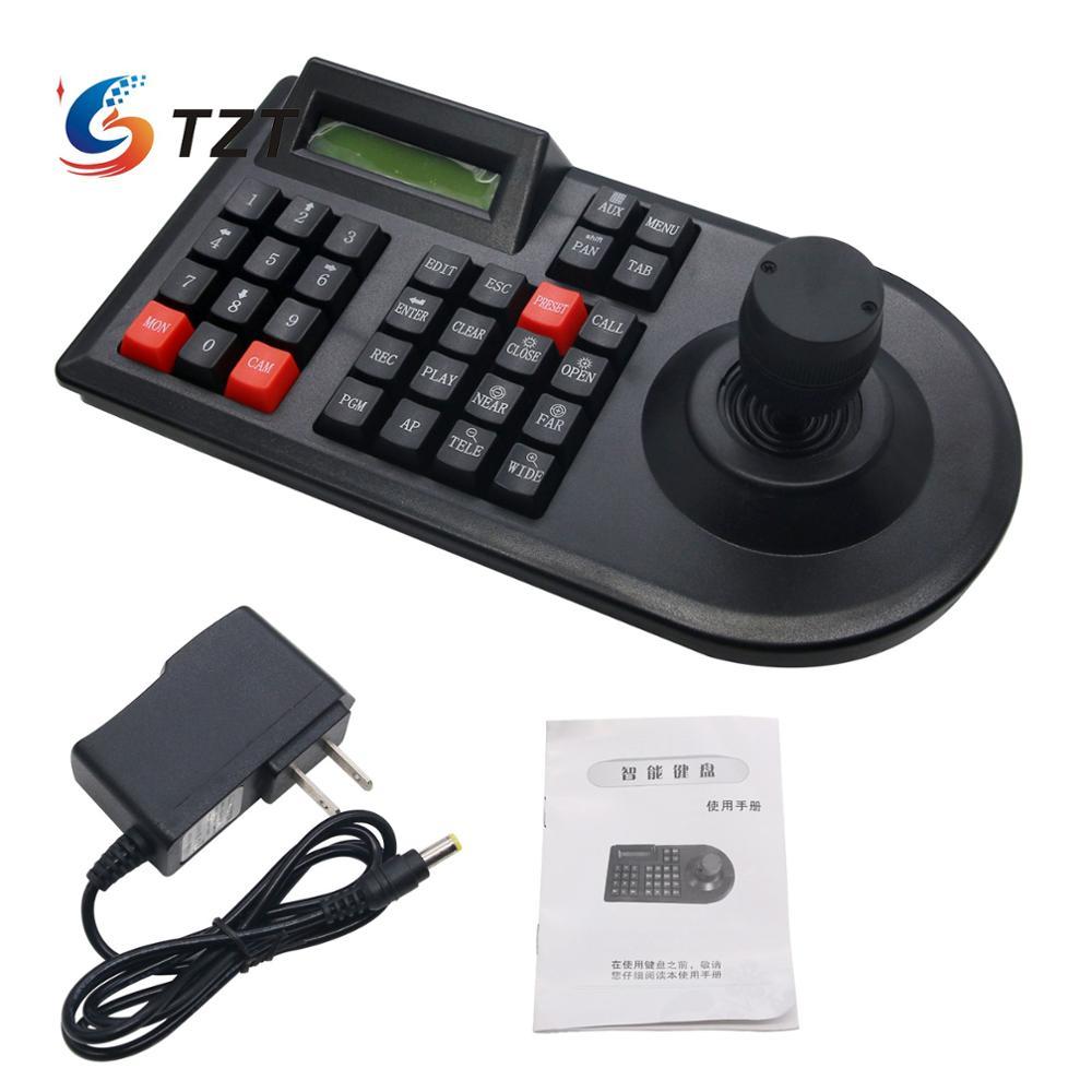 TZT 3D PTZ контроллер клавиатура для систем видеонаблюдения джойстик для RS485 PTZ скоростная купольная камера кронштейн поддержка Pelco D / P протокол 3 осиГолосовые модули распознавания/управления    АлиЭкспресс