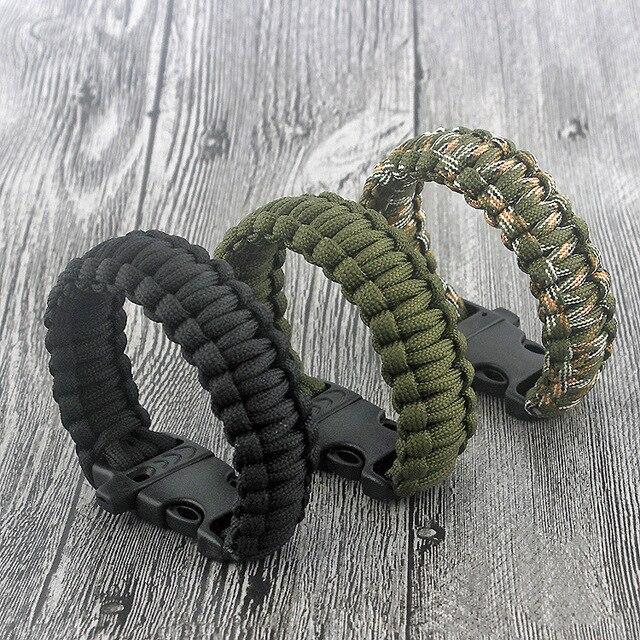 bracelet en paracord de survie