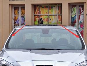 Image 1 - LittleMoon Original brand new windshield beading rubber strip 8120AK 8120AJ on both sides of front windshield for Peugeot 408