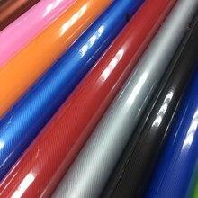 Nova chegada 5d fibra de carbono com mais cores para a escolha azul vermelho prata cinza rosa 5d filme carbono 10/20/30/40/50/60x15 2 cm/lot