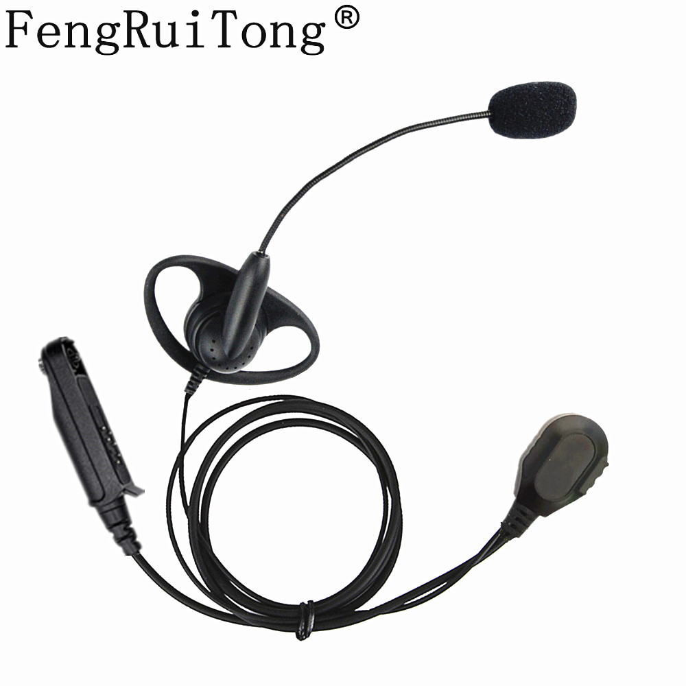 Walkie Talkie Headset Iron Clip D Type Mic Stick Tactical Headphone For Baofeng UV9R BF-A58 BF9700 UV9RPlus  UV-XR Two Way Radio