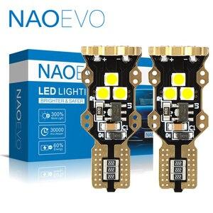 NAOEVO W16W T15 LED Blub автомобильный 12В 24В CANBUS без ошибок супер яркий 5 Вт 1300LM Авто 921 задний фонарь 3030 белый