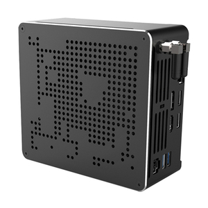 Image 4 - 2 Lans جهاز كمبيوتر صغير إنتل كور i9 9880H 8 النوى 16 المواضيع الألعاب كمبيوتر مكتبي 2 * DDR4 2 * M.2 NVMe Win10 برو 4K HTPC HDMI DP نوع C