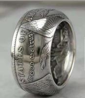 90% الفضة مورغان الفضة الدولار عملة حلقة 'eagle'Customized مواعيد اليدوية في أحجام 8-16