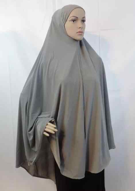 غطاء كامل للنساء المسلمات فستان الصلاة وشاح طويل خيمار الحجاب الإسلام ملابس علوية كبيرة جلباب رمضان العربية الشرق الأوسط