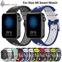 Correa de reloj deportivo de 18mm para Xiaomi Mi, pulsera de silicona suave de repuesto para reloj inteligente