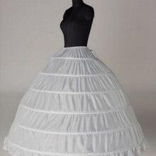 Свадебные аксессуары Петтикот Vestido Longo бальное платье кринолин нижняя юбка 6 Обручи юбка Подъюбники