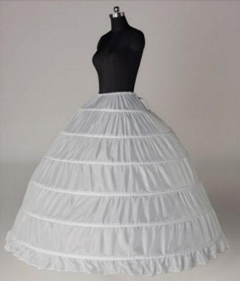 Wedding Accessories Petticoat Vestido Longo Ball Gown Crinoline Underskirt 6 Hoops Skirt Petticoats In Stock-in Petticoats from Weddings & Events
