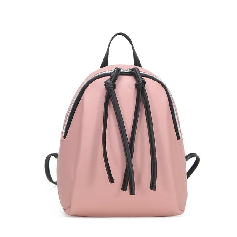 حقيبة كتف صغيرة للنساء من الجلد 2019 حقيبة كتف صيفية متعددة الوظائف حقائب ظهر صغيرة للإناث حقيبة ظهر مدرسية للمراهقات
