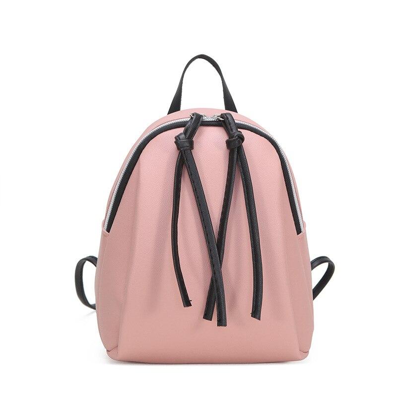Pequeña mochila de hombro de cuero para mujer 2019 Mini mochilas multifunción de verano mochila escolar para mujeres para Grils adolescentes