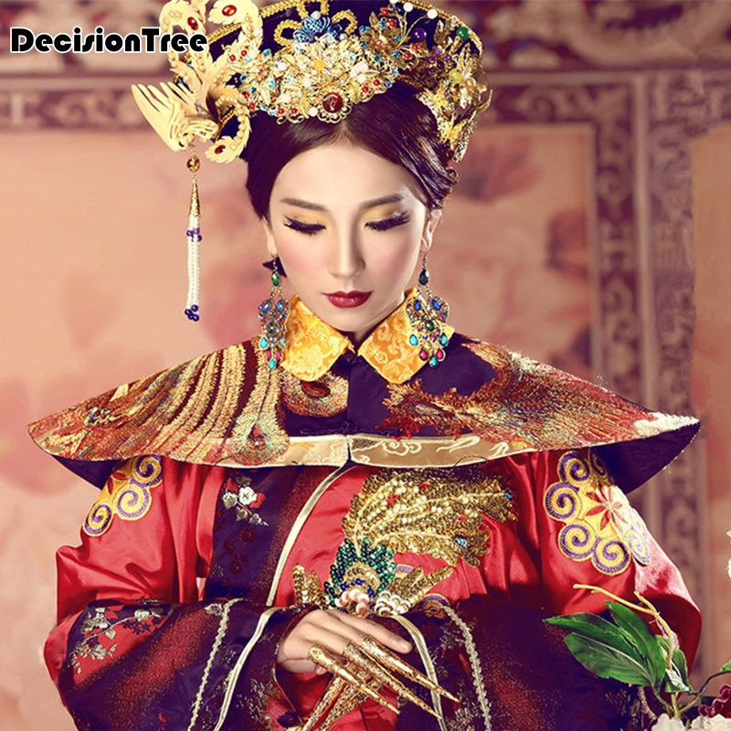 2020 Red Hanfu Dress Folk Dance Costume Chinese Traditional National Fairy Costume Ancient Han Dynasty Princess Stage Outfits