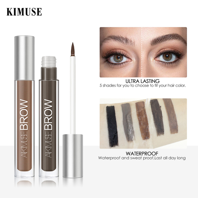 KIMUSE Eyebrow Gel Dye Waterproof Eyebrow Shasow Eyebrow Tint Eye Makeup Eyebrow Pencil Long Lasting Cosmetic Eyebrow Enhancer 2