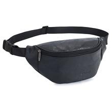 Waist Bag Fashion Simple Crossbody Sling Shoulder Travel Outdoor Belt Fanny Pack Custom Unisex PU Sport Bum