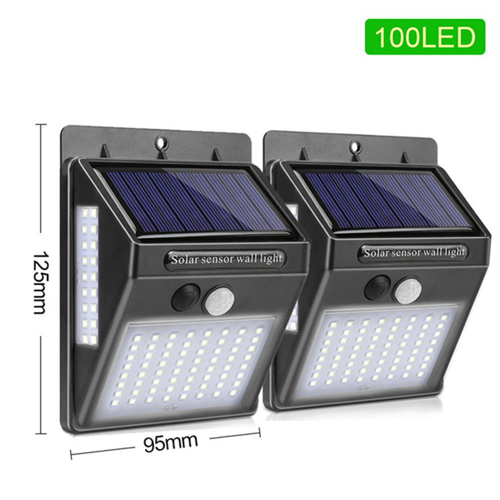 1-4pcs Luz Solar Light 3 Side Solar Wall Lamps PIR Motion Sensor Wall Light Waterproof Solar Powered Lights For Garden Decor New