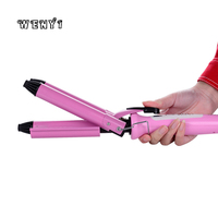 Professional Electric Hair Curler 3 Barrels Fast Heat Curling Wand Iron Tools Adjustable Digital Hair Waver Styling 220V Eu Plug 4