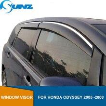 Janela lateral defletores para honda odyssey 2005 2006 2007 2008 janela viseira ventilação sombra sol chuva defletor guardas sunz