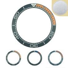 Novo 41.5mm preto fosco/azul e 1/4 laranja de alta qualidade cerâmica bezel inserir para sea master assista relógios substituir acessórios