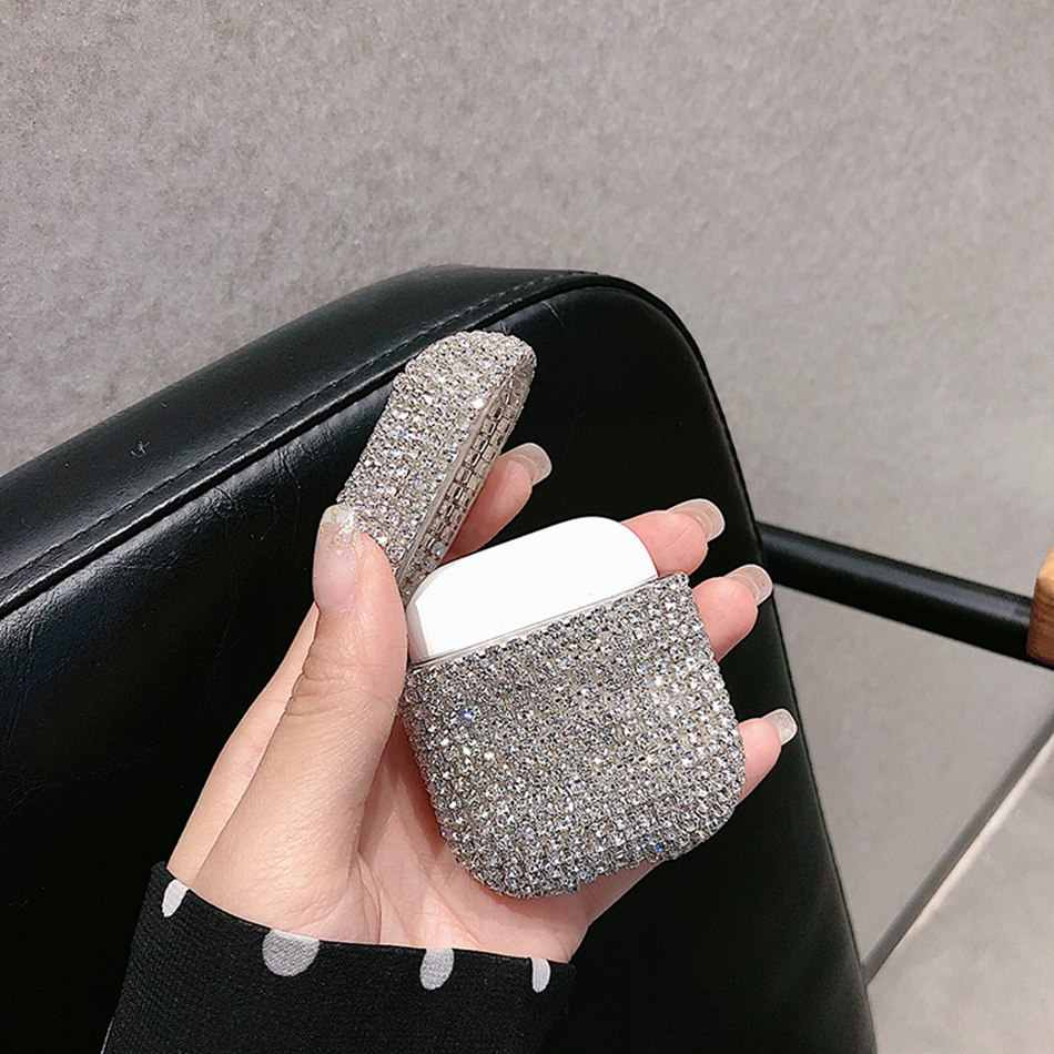 Untuk Airpods Pro Case Mewah Glitter 3D Diamond Earphone Cover untuk Airpods 3 Airpods 2 BLING BLING Keras Melindungi Case untuk Airpods
