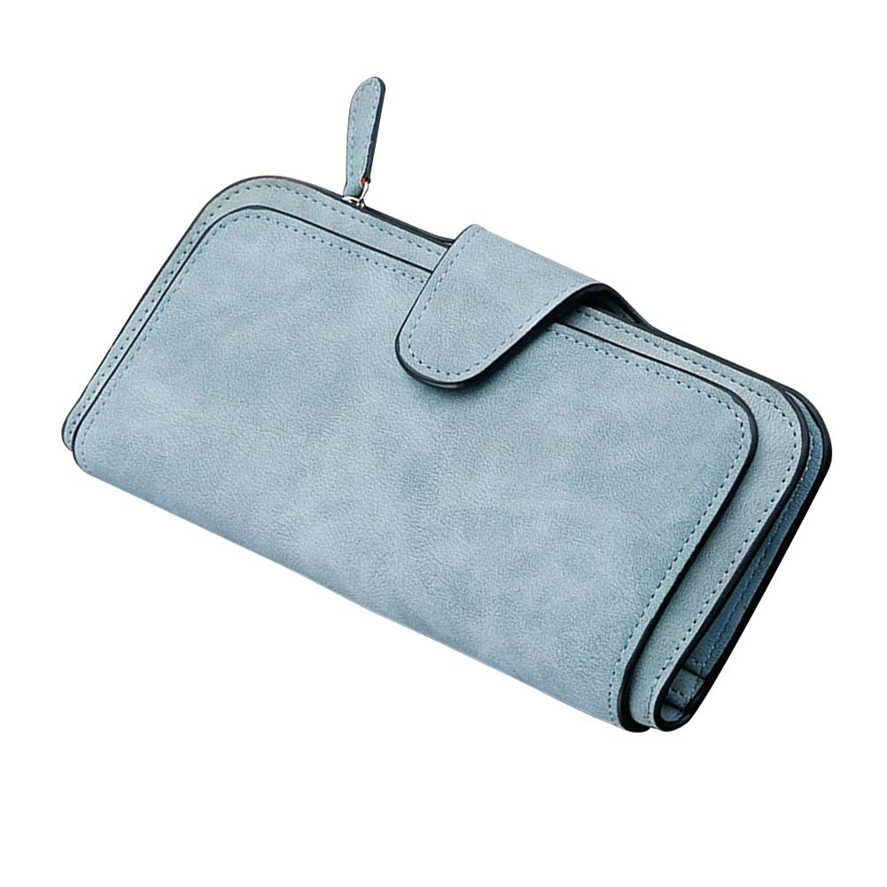 Fashion Woman New Card Slots Four Fold Wallet Purse PU Card Bag Multi-Card Slots Phone Bag