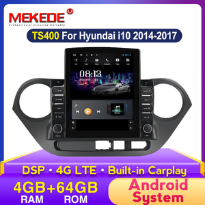 MEKEDE HD 1024x768 DSP android Car DVD Player Navigation GPS Radio for HYUNDAI i10 2014 2015 2016 2017 Multimedia Stereo
