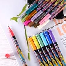 18 farben Kunst Marker Stifte Zeichnung Malerei Aquarell Dual Tip Pinsel Stift Schule Schreibwaren
