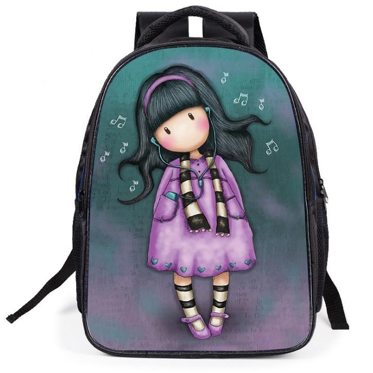 Cartoon Girl Anime illustrator Print Backpack Student School Bag Light Orthopedics Book Bag Unisex Teenagers Casual Bag Mochila