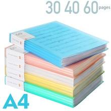 File-Folder Book Office-Supplies Transparent A4 Bag Information Multi-Layer Student