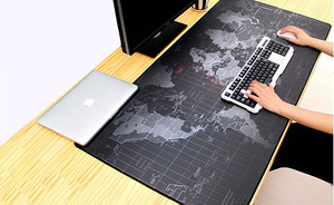 Gaming Mouse Pad Large Mouse Pad Big Mouse Mat Computer Mousepad Carved World Map Mause Pad Desktop Keyboard Mat Cushion XXL